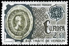 Kaiser Karl auf Briefmarke