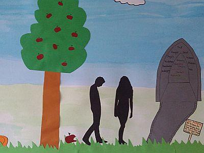 Adam und Eva in der Bilderbibel
