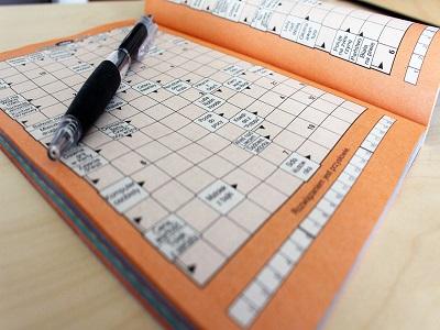 Kreuzworträtsel mit Stift