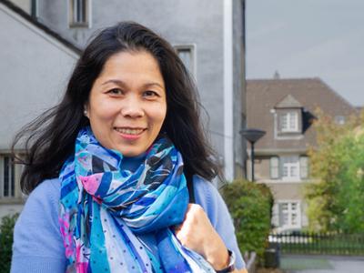 Mai Do, Vorstandmitglied der Vietnamesischen katholischen Gemeinde in Essen, Foto: Niklas Buhr