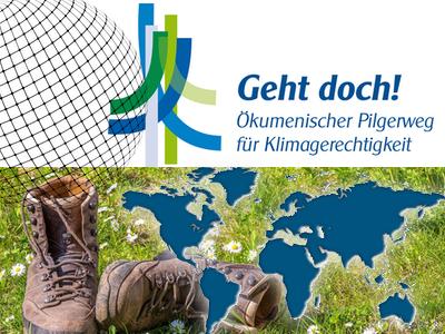Bild: Logo Ökumenischer Klimapilgerweg 2021, Montage: KIP
