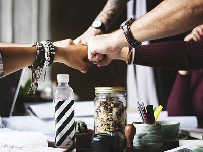Hände als Symbol für Gemeinschaft