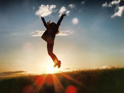 Mensch springt