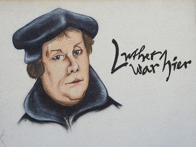 Luther als Graffiti