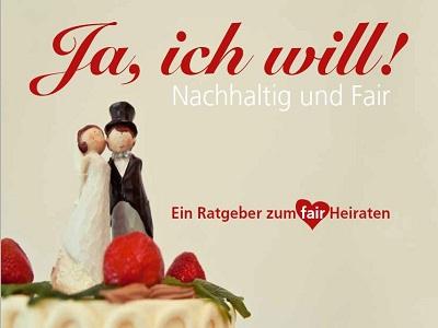 Cover der Broschüre Fair heiraten