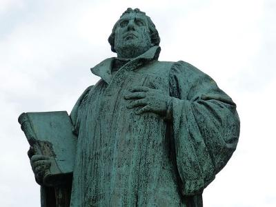 Luther-Statue in Magdeburg