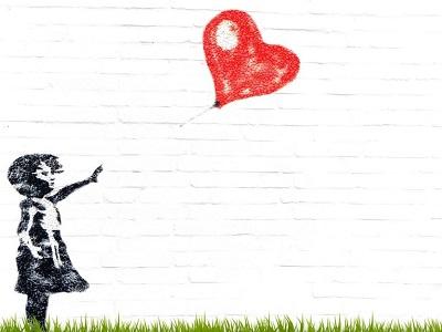 Mädchen mit rotem Ballon von Banksy