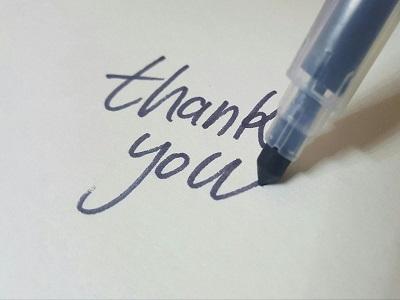 Schriftzug Thank You