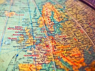 Europa auf dem Globus