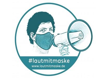 Logo der Aktion Laut mit Maske