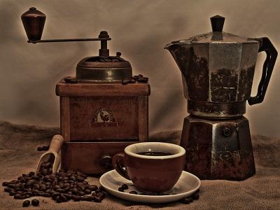 Eine Kaffeemühle