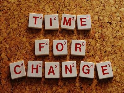 Buchstabenwürfel - Time to change