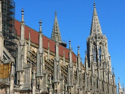 Der Kirchturm des Ulmer Münsters