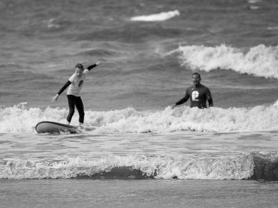 Surfschueler und Surflehrer