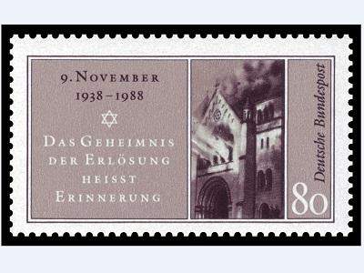 Gedenkbriefmarke Reichsprogromnacht