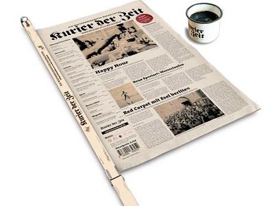 Zeitung und Kaffeetasse