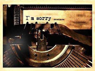 Schriftzug I´m sorry